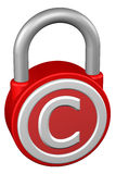 Концепция: padlock с авторским правом знака бесплатная иллюстрация