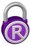 Концепция: padlock с товарным знаком знака перевод 3d иллюстрация штока