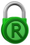 Концепция: padlock с товарным знаком знака перевод 3d иллюстрация вектора