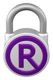 Концепция: padlock с товарным знаком знака перевод 3d бесплатная иллюстрация