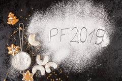 Концепция PF 2019 рождества стоковая фотография