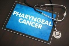 Концепция Pharyngeal диагноза рака (типа рака) медицинская на плате Стоковое Фото