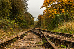 Концепция ravel ландшафта железнодорожного пути стоковое фото