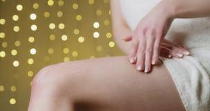 Концепция skincare и тела сток-видео
