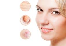 Концепция skincare Стоковое Изображение