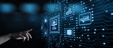 Концепция Techology интернета дела управления отношения клиента CRM стоковое фото