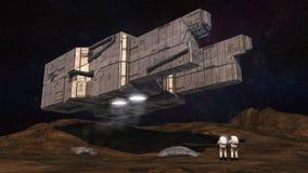 Концепция UFO космического корабля чужеземца Стоковые Фото