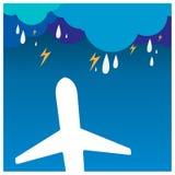 Концепция v приключения самолета чемодана каникул праздника перемещения Стоковые Изображения