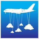 Концепция v приключения самолета чемодана каникул праздника перемещения Стоковое фото RF