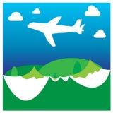 Концепция v приключения самолета чемодана каникул праздника перемещения Стоковое Изображение RF
