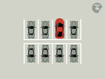 Концепция Vip, супер автостоянка на автостоянке бесплатная иллюстрация