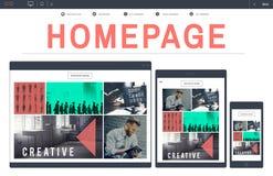 Концепция Www технологии адреса домашней страницы онлайн Стоковое Фото