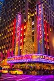 Концертный зал города радио, Нью-Йорк, США Стоковые Фото