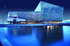 Концертный зал Harpa, Reykjavik, Исландия Стоковая Фотография