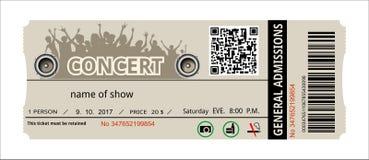 Концерт билета бесплатная иллюстрация