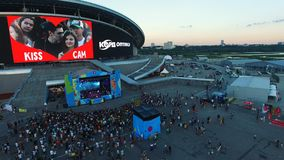 Концерт вахты любителей музыки вида с воздуха на этапе фестиваля акции видеоматериалы