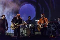 Концерт в реальном маштабе времени Calexico в Италии, irpino Ariano стоковая фотография rf