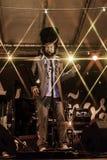 Концерт в реальном маштабе времени capossela Vinicio в Италии, Calitri стоковое изображение rf