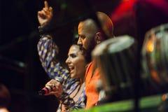 Концерт в реальном маштабе времени fanfara tirana стоковые фотографии rf