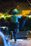 Концерт в реальном маштабе времени fanfara tirana стоковое фото rf