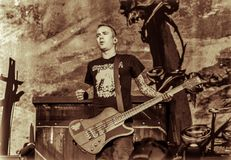 Концерт в реальном маштабе времени Volbeat в диапазоне металла Hellfest 2016 стоковое фото