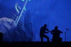 Концерт классической музыки на ноче стоковое изображение rf