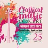 Концерт классической музыки Стоковые Изображения