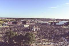 Концерт металла ландшафта, Hellfest 2017 Стоковые Фото