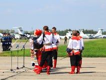 Концерт на воинской аэробазе Стоковое Фото