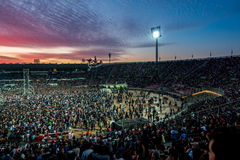 Концерт на заходе солнца Стоковое Фото