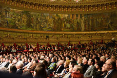 Концерт на румынском атенее Стоковое Фото