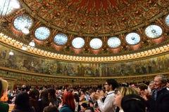 Концерт на румынском атенее стоковая фотография