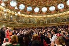 Концерт на румынском атенее Стоковое Изображение