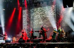 Концерт дочерей Dakh в Sentrum, Киеве, 23.04.2014 стоковые изображения rf