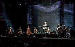 Концерт дочерей Dakh в Sentrum, Киеве, 23.04.2014 стоковые фотографии rf