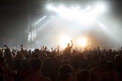 Концерт толпы стоковые изображения