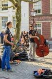Концерт улицы в Амстердаме Стоковое фото RF