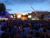 Концерт Francofolies Монреаль КВЕБЕКА Монреаля стоковые изображения rf