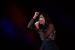 Концерт Indila Стоковое Изображение RF
