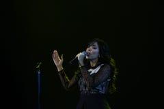 Концерт Indila Стоковое фото RF