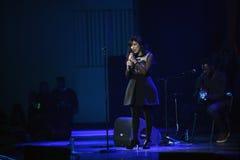 Концерт Indila Стоковые Изображения RF