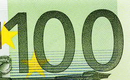 100 концов-вверх евро Стоковая Фотография