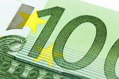 100 концов-вверх евро Стоковые Изображения RF