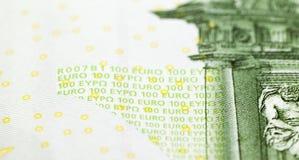 100 концов-вверх евро Стоковое Изображение RF