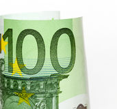 100 концов-вверх евро Стоковое Изображение