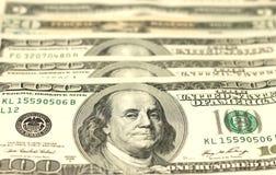 100 концов-вверх долларовых банкнот Стоковая Фотография RF