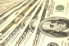 100 концов-вверх долларовых банкнот Стоковые Фотографии RF
