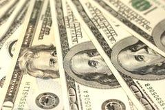 100 концов-вверх долларовых банкнот Стоковое Фото