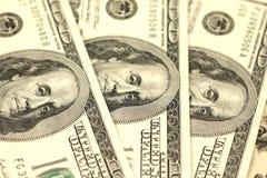100 концов-вверх долларовых банкнот Стоковые Фото