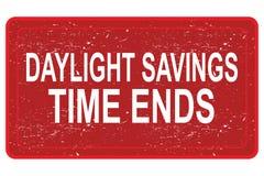 Концы времени сбережений дневного света бесплатная иллюстрация